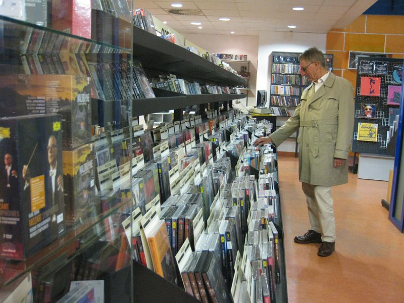 Toko Rekaman dan CD di Praha